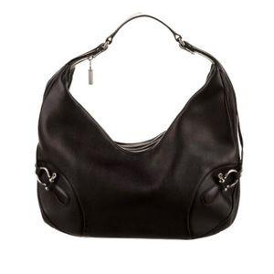 Burberry London Hoxton Horsebit Leather Hobo Bag